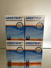 UNISTRIP 1 Blood Glucose 200 Test Strips, EXP 12/2021. FREE SHIPPING