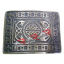 Scottish & Highland Kilt Belt Buckle Celtic Design High Quality Antique Finish