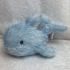 "Ganz Webkinz Blue Whale Beanbag Plush Stuffed Animal 9"" HM356 Pastel No Code"
