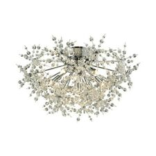 ELK Lighting Snowburst 6-Light Semi Flush, Polished Chrome/Crystal - 11891-6
