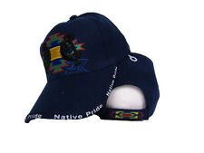 Native American Native Pride Symbol Shadow Indian Blue Ball Cap Hat