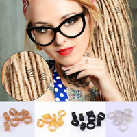 5/25/50Pcs Hair Braid Dreadlock Beads Twist Cuff Tube Spring Ring DIY Hair Acces