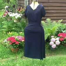 Vintage 1940's WW2 DRESS LOVELY SEXY SWAG ON SIDE HIP 32-26-40