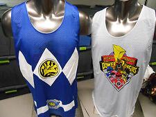 Mens Licensed Power Rangers Reversible Basketball Jersey Shirt New M
