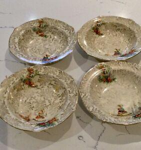 EMPIRE WARE CRINOLINE LADY. 4 Small Fruit Dishes