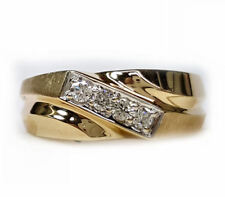 Men's ring with diamonds across top 20pts. t.w. 8mm wide band in 14kt gold