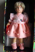 "Vintage 1984 Lenci Loretta Blonde Girl Doll Pink Dress Mint with Box 13"""