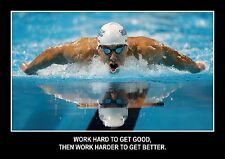 SWIMMING INSPIRATIONAL / MOTIVATIONAL  POSTER FANTASTIC QUALITY (2)