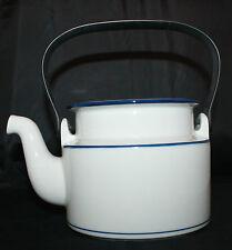 Dansk Bistro Christianshavn Blue Tea Coffee Pot Black Handle NO LID AS-IS