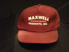 Vintage Maroon Maxwell Elastoflex Sealants Products Inc. ball cap.