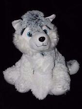 FAMOSA HUSKY SOFT TOY SOFT TOY WHITE GREY BLUE PUPPY DOG COMFORTER DOUDOU