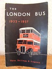 London Bus 1933 - 1957 Booklet Kennedy and Marshall