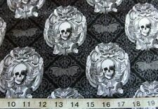 Crafts Skull Fat Quarter 100% Cotton Fabric
