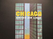 United  Airlines Travel Poster Chicago From American Express Travel Office