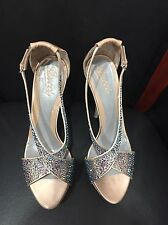 $1195 Stunning Women's Limited Ed. Gucci Crystal Nude Beige Tan Shoes Size 40 10