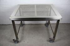 EDELSTAHL LABORTISCH REINRAUM TISCH V2A STAINLESS STEEL LAB TABLE 100x80x77 #8