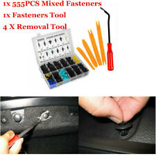555x Car Body Fender Bumper Retainer Fastener Clip Accessories +Removal Tool