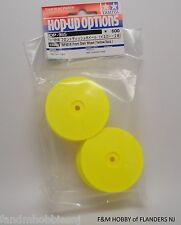 New Tamiya Part 53985 TRF 501 X / DB 01 Front Dish Wheels in Yellow # 985