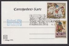 Christkindl Weihnachten Sonderstempel Karte Unterhimmel 6.1.999