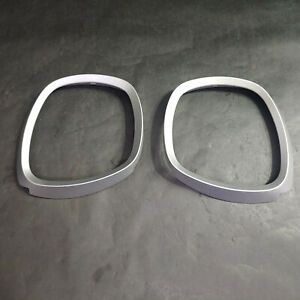 2010 Chevy Equinox Instrument Cluster Speedometer Trim Bezel Cover Rings, Silver