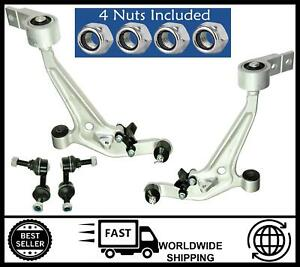 KIT Front Lower Wishbone Suspension Arms & Drop Links FOR Nissan X-Trail