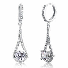 Leverback Round Fine Diamond Earrings