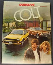 1979 Dodge Colt Catalog Sales Brochure Excellent Original 79