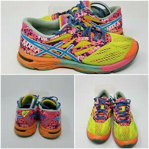 Asics Gecko XT Blue Pink Volt Running Tennis Shoes Sneakers Low Womens Size 9