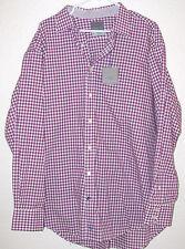 """NWT Thomas Dean TD L/S Button Mens Shirt 16R Regular 16""""  Purple White"""