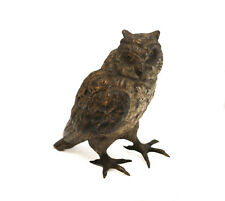 Austrian Cold Painted Bronze Owl Figurine, circa 1880