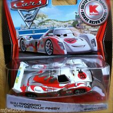 Disney PIXAR Cars 2 SILVER RACER SERIES Kmart SHU TODOROKI METALLIC FINISH DAY 8