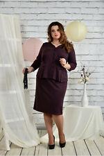 Business Kostüm Bordeaux Rock Jackett Frauen Größe 50 52 bügelfrei