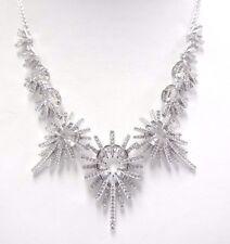 Hippy Necklace Wide White Crystal Rhodium Plating 2017 Swarovski Jewelry 5348623