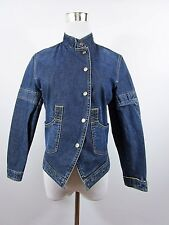 BURBERRY Genuine Girls Casual Smart Embroidery Denim Jeans Jacket Age 14 BC50