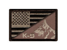K-9 USA American Flag POLICE Morale Hook Fastener Patch (PK-1C) BY MILTACUSA
