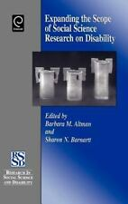 Expanding the Scope of Social Science Research on Disability (Research in Social