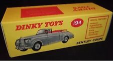 Dinky 194 Bentley Coupe Empty Repro Box
