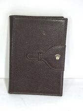 ROLEX MENS PRESIDENT WATCH LEATHER NOTEPAD FROM 1980'S-1990'S