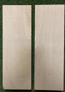 "Premium Ash Electric Guitar Body Blank, 2 Pieces UNGLUED Solid body 21 x 14"" x 2"