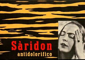 CARTA ASSORBENTE PUBBLICITARIA ANNI '50 - ANTIDOLORIFICO SARIDON