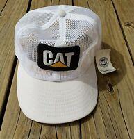 Vtg 80s CAT Trucker Hat All Mesh USA Louisville Mfg Caterpillar Workwear Trucks