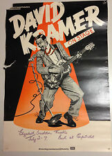 AFFICHE VINTAGE DAVID KRAMER ON STAGE // 41 X 59