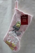 SWEET PINK BABY'S FIRST CHRISTMAS STOCKING Animals Infant Girls Holiday Cute NEW