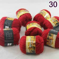 Lot 8balls Chunky Colorful Hand Knitting Scores Wool Yarn Red