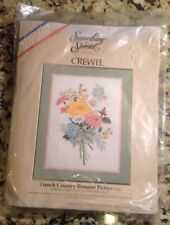 Something Special Crewel Embroidery French Country Bouquet Picture