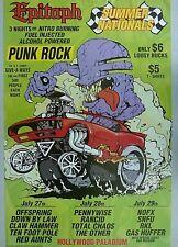 EPITAPH RANCID PENNYWISE NOFX 1994 VINTAGE PUNK ROCK MUSIC CONCERT PROMO POSTER
