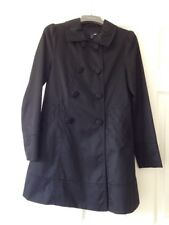 H & M Black Black Trench-coat Uk Size 8 Great Condition!