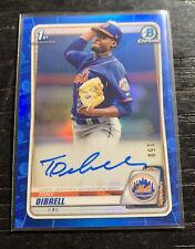 Tony Dibrell 1st Bowman On Card Auto Blue 149/150 2020 Bowman CPA-TD Mets