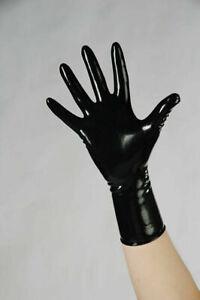 Fetisso 1510 chlorinated fetish latex gloves short size M
