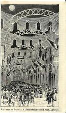 Stampa antica BRESCIA Via Sant' Antonio in festa 1878 Old antique print